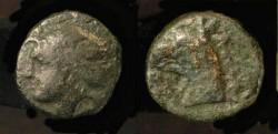 Ancient Coins - Phokaia, Ionia. 350-300 BC. Head of Nymph Phokaia / Gryphon Head.