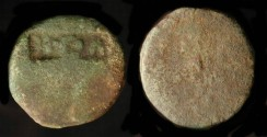 Ancient Coins - > Early 1st Century AD Bronze with Counterstamp.