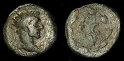 Ancient Coins - Roman Provicial. Antoninus Pius 138-161 AD. AE Semis. Rare Denomination. Syria, Antiochia ad Orentum