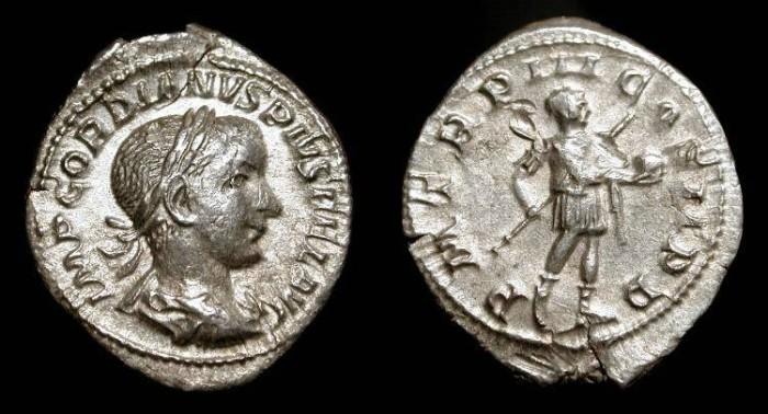Ancient Coins - Gordian III. 238-244 AD. AR Denarius. Rome mint.