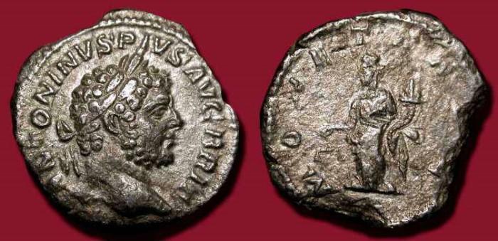 Ancient Coins - Caracalla. 198-217 AD. AR Denarius