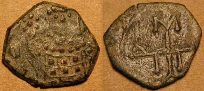 Ancient Coins - Manuel I  .  1143 - 1180  AD . AE 1/2 Tetarteron . Sear # 1977 .