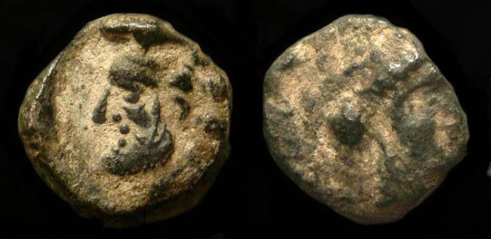 Ancient Coins - Samaria. 5th - 4th Century BC. AR Obol
