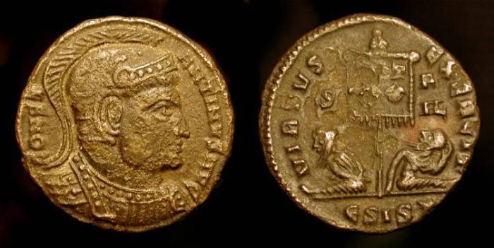 Ancient Coins - Constantine the Great. 306-337 AD. AE Follis. RIC 120 (r2) Rare