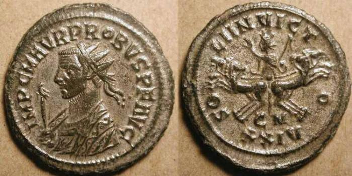 Ancient Coins - Probus. 276-282 AD. Antoninianus . Cyzicus .