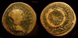 Ancient Coins - Trajan, 98-117 AD. AE As. Antioch Mint