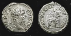 Ancient Coins - Septimius Severus,  193-211 AD.  AR Denarius.  Rome Mint,  RIC 236