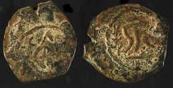 Ancient Coins - > Herod the Great 37 - 4 BC. AE 2 Prutot. H 1178a