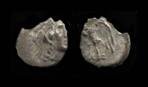 Ancient Coins - Yehud.  Ptolemaic Period, after 333 BC. AR 1/4 Ma`ah (Obol). H 1068
