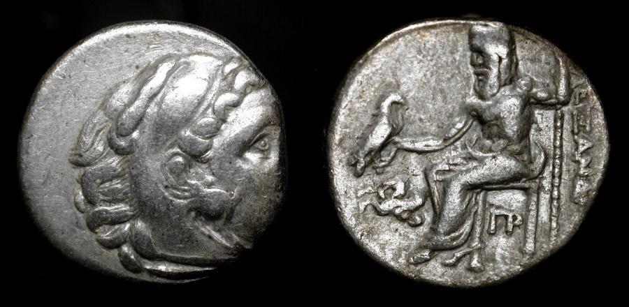 Ancient Coins - Antigonos Monopthalmos. 306-301 BC Silver Drachm. Lampsakos Mint. Price # 1393