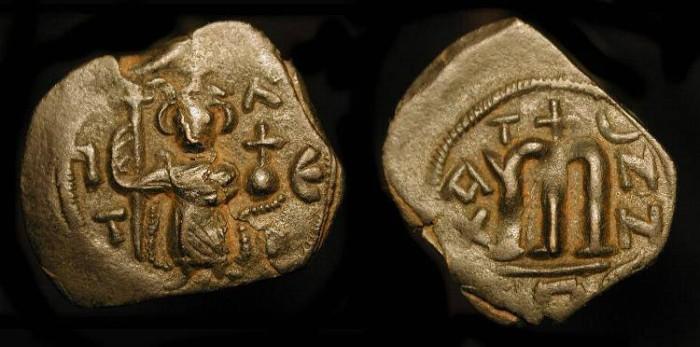 World Coins - Byzantine Empire. Constans II  641-668 AD. AE Follis. SB 1000.   WOW  !