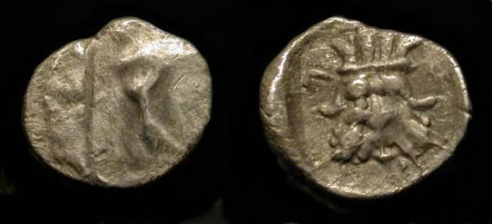 Ancient Coins - Samaria. 375-333 BC. AR Hemiobol. M & Q 120. Very Rare