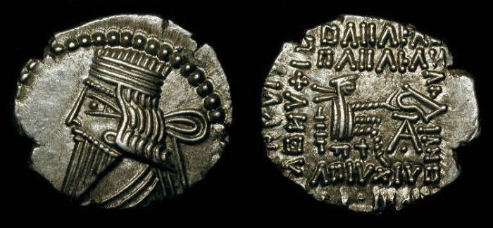 Ancient Coins - zz Parthian Empire. Vologases III  105-147 AD.  Ecbatana Mint.  AR Drachm. Sellwood 78.7