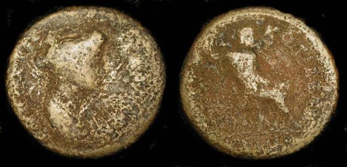 Ancient Coins - x Phrygia, Cotiaeum. Matidia (Niece of Trajan). AE 21. Very Rare !
