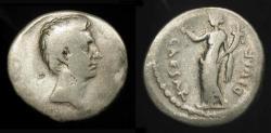 Ancient Coins - Octavian.  Silver Denarius. Italian Mint 32-31 BC.  RIC 252