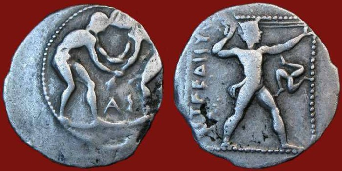 Ancient Coins - Pamphylia, Aspendos. 385-370 BC. Silver Stater
