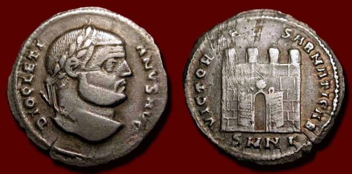 Ancient Coins - Diocletian. 284-305 AD. AR Argenteus. Rare (R3)