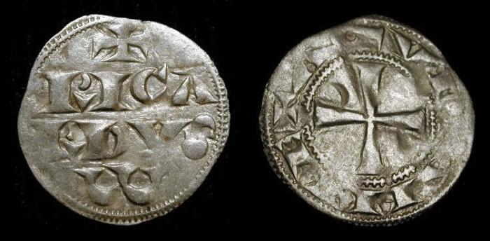 World Coins - x  Richard the Lionheart (Duke of Aquitaine 1172-1185, King of England 1189-1199) Silver Denier