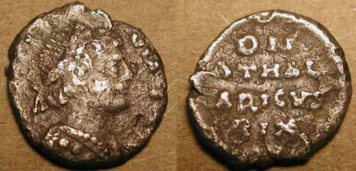 World Coins - Athalaric . 526 - 534 AD . Ostrogoths ,  AR 1/4 Siliqua . RARE .