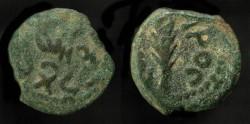 Ancient Coins - >Judaea. Porcius Festus, 59-62 AD. Procurator under Nero. AE Prutah. H 1351