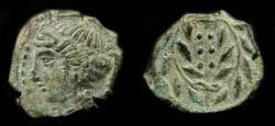 Ancient Coins - Himera, Sicily. Bronze Hemilitron. 420 - 408 BC
