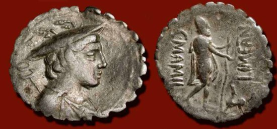 Ancient Coins - x AR Denarius. 82 BC. Ulysses (Odysseus) Returning from the Trojan War and  being Greeted by his Dog Argos