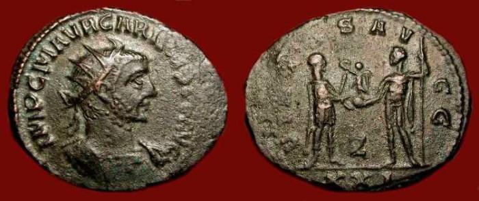 Ancient Coins - Carinus 282-284 AD.  AE Antoninianus