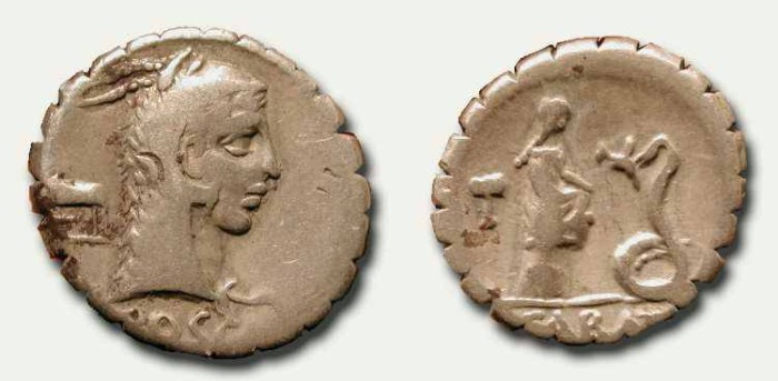 Ancient Coins - z L. Roscius Fabatus. 59 BC.