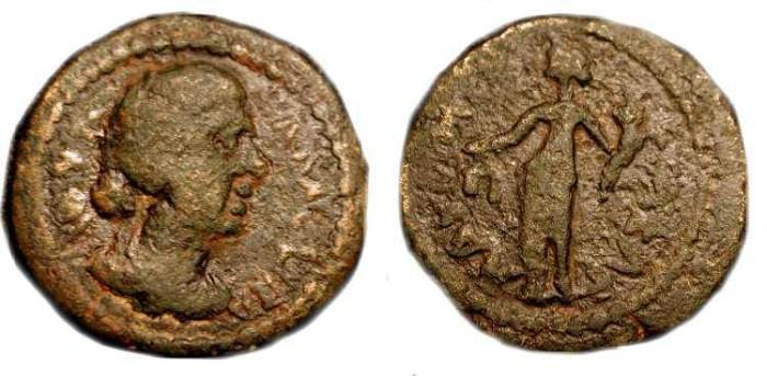 Ancient Coins - x Judea, Aelia Capitolina (Jerusalem). Julia Maesa, AE 22
