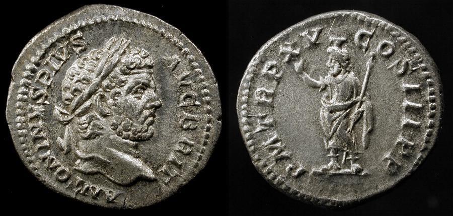 Ancient Coins - Caracalla 198-217 AD. AR Denarius. Rome Mint. RIC 194. Outstanding !