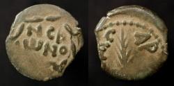 Ancient Coins - Porcius Festus, 59-62 AD. Procurator under Nero. AE Prutah. Hendin 1351
