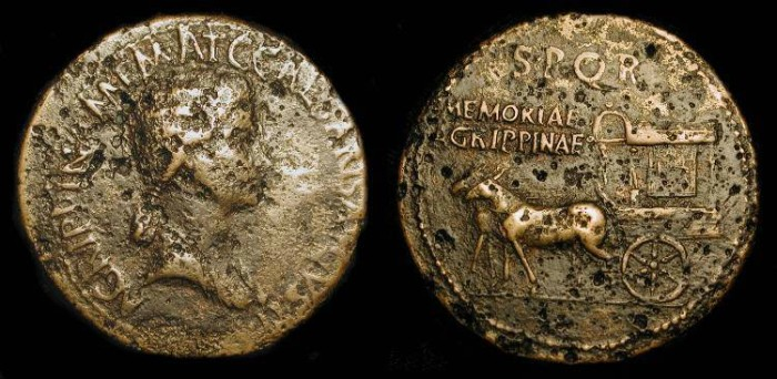 Ancient Coins - xAgrippina Senior (Mother of Caligula, died 33 AD) AE Sestertius