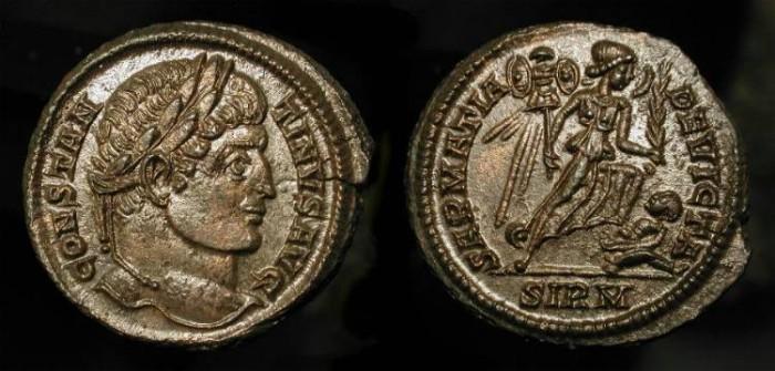 Ancient Coins - Constantine the Great 307-337 AD. SARMATIA DEVICTA - Sirmium Mint.  Spectacular !