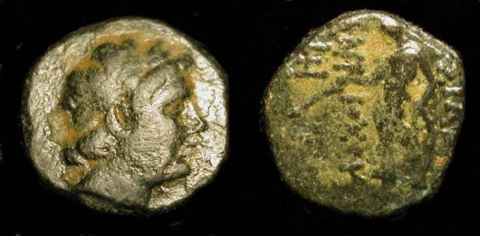 Ancient Coins - Demetrius II 129-125 BC. AE 14