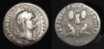 Ancient Coins - Titus  69-79 AD. AR Denarius. Judaea Capta. Hendin 1584
