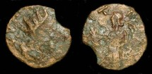 Ancient Coins - 3rd century AD Barbarous radiate.  Imitating a Gallo-Roman issue