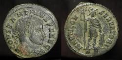 Ancient Coins - Constantine the Great. AE Follis. Trier, RIC 11. Rare R4. Marti Conservatori