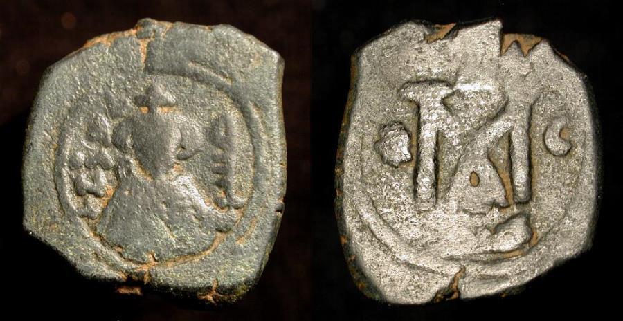 World Coins - Arab Byzantine. Main Bilingual Series : TARTUS (ANTARDUS). AE Fals. Foss 79