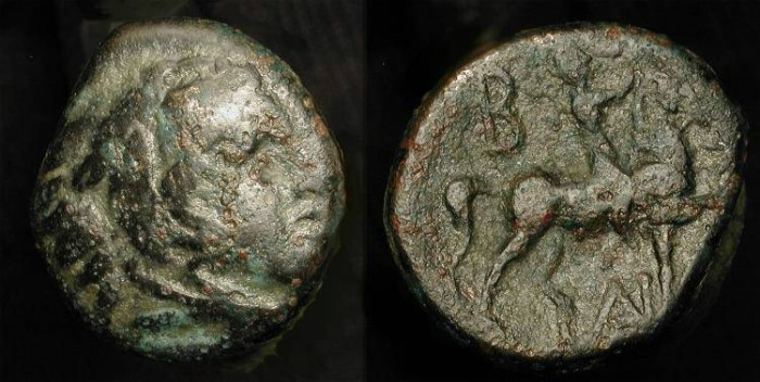 Ancient Coins - Alexander the Great, 336-323 BC. AE 18