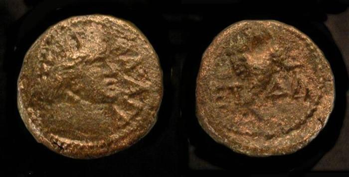 Ancient Coins -  Agrippa II  56-95 AD. AE 13. Hendin 1297