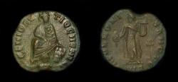 Ancient Coins - Pagan Civic Coinage under Maximinus II Daza. AE Quarter Follis. Antioch, circa 312 AD.