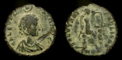 Ancient Coins - Eudoxia, Wife of Arcadius (383-408 AD). AE 19 mm. Hand of God. Cyzicus Mint.  RIC 103 Scarce