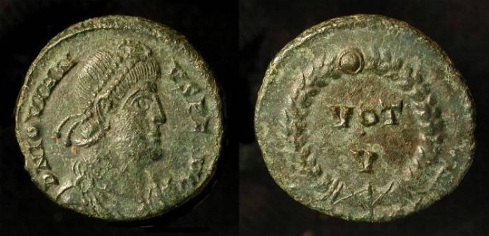 Ancient Coins - Jovian 363-364 AD.  AE Follis