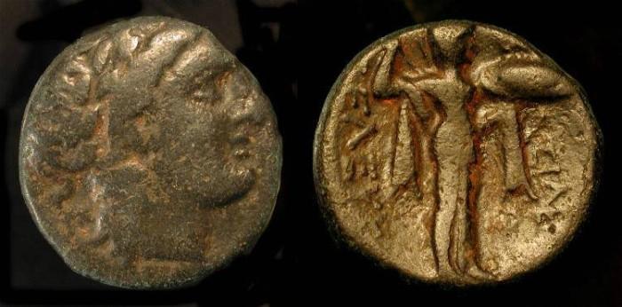 Ancient Coins - Seleukos I  312-280 BC. AE 18.  Antioch Mint
