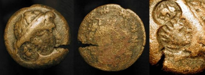 Ancient Coins - Tomis, Thrace (AE 26mm) with Two Interesting Countermarks. 2nd-1st Century BC