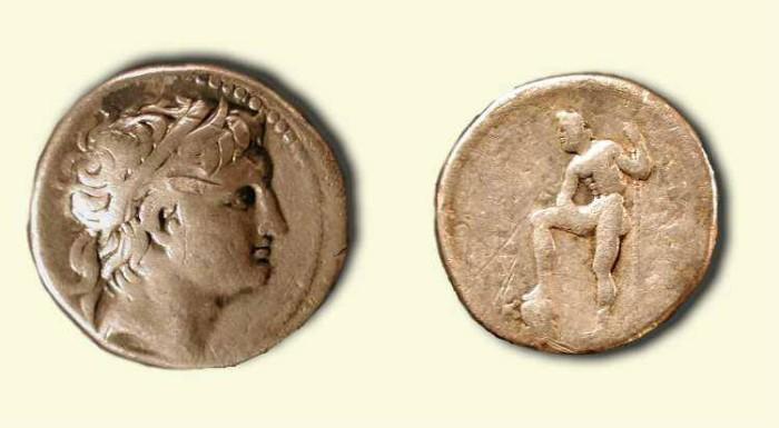 Ancient Coins -  Demetrios Poliorcetes. 306-285 BC . Silver Tetradrachm