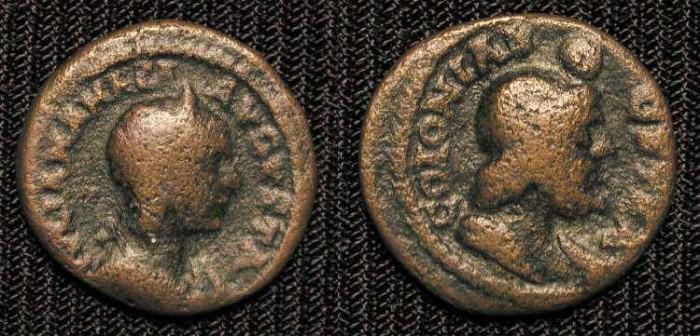Ancient Coins -  Julia Mamaea,  AE20, Colonia Bostra, Decapolis.
