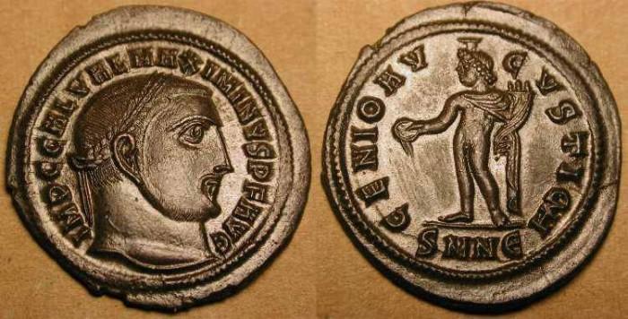 Ancient Coins -  Maximinus II . 309 - 313  AD . AE Follis . Stunning !!!!