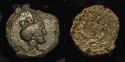 Ancient Coins - Judaea, Herod Agrippa II. 55-95 AD.  Extremly Rare Type !