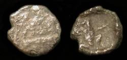 Ancient Coins - Sidon.  Ba'l Sallim I or II,  420- 410 BC.  AR 1/16 Shekel.